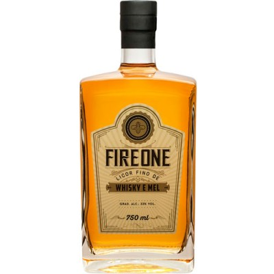 Licor de Whisky Fire One Mel - 750ml