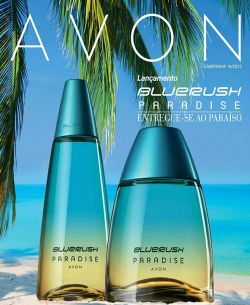 Avon Bluerush Paradise desodorante colônia for women - 100 ml