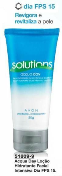 Avon Solutions Acqua Day Loção Hidratante Facial Intensiva Dia FPS 15 - 50 g