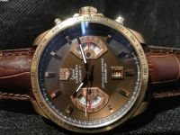 REPLICA DE RELOGIO TAG HEUER CALIBRE 17 GOLD/MARRON - TAG09