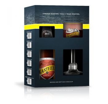Cerveja Kasteel Rouge 1+1 750 ml - Kit