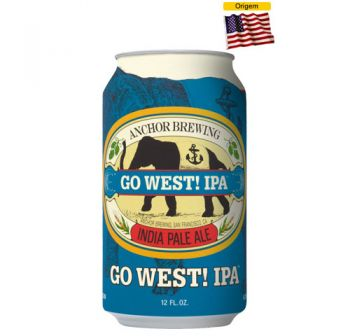 Cerveja Anchor Go West! IPA 355 ml - Lata
