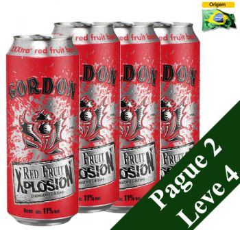 Cerveja Gordon Finest Red Fruit Xplosion 500 ml - Pague 2 Leve 4
