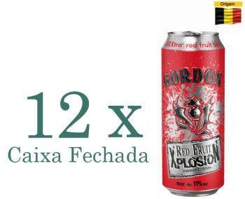 Cerveja Gordon Finest Red Fruit Xplosion 500 ml - Caixa Fechada com 12