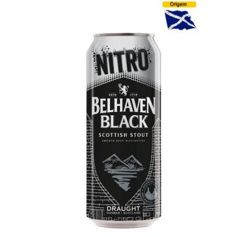Cerveja Belhaven Black Scottish Stout NITRO 440 ml Lata