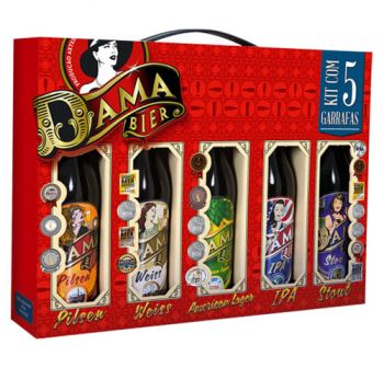 Cerveja Dama Bier Long Neck 5 x 355 ml - Kit