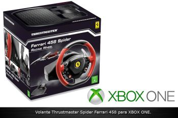 Volante Spider 458 Italia Thrustmaster Racing Wheel para Xbox ONE.