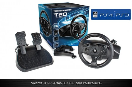 Volante Thrustmaster T80 Racing Wheel PS3/PS4  - foto principal 1