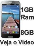 Smartphone H9500, Android 4.0 Atualizado, 1gb Ram, Dual Core, 02 chips, Tela Multitouch Capacitiva 5.3, 8MP
