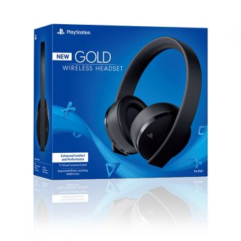 New Gold Wireless Head Set 7.1 - Sony