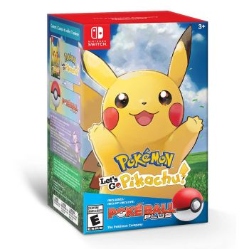 Pokemon: Lets Go, Pikachu! com Pokeball Plus - Nintendo Switch