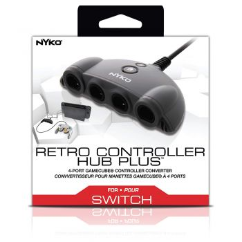 Adaptador Retro Hub Plus Controle Gamecube para Nintendo Switch - NYKO