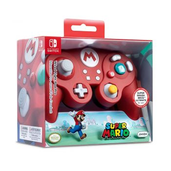 Controle Com Fio USB Wired Fight Pad Mario PDP - Switch / PC