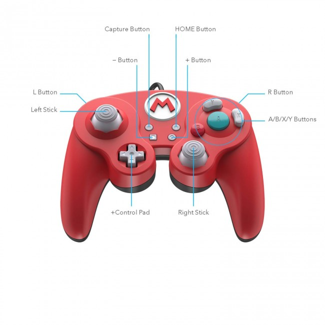 Controle Com Fio USB Wired Fight Pad Mario PDP - Switch / PC  - foto principal 1