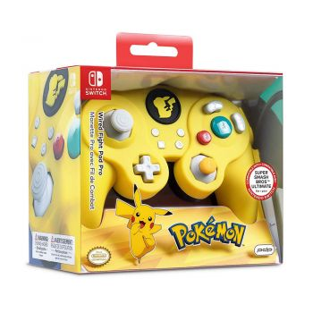 Controle Com Fio USB Wired Fight Pad Pokémon Pikachu PDP - Switch / PC