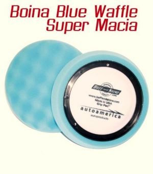 Boina de Espuma Blue Waffle Super Macia Azul Buff and Shine (7,5 polegadas)