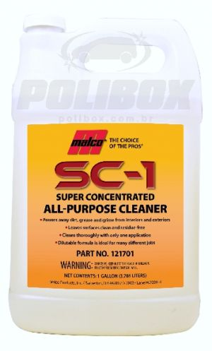 Desengraxante SC-1 Super Concentrado All-Purpose Cleaner Malco (3,785 L)