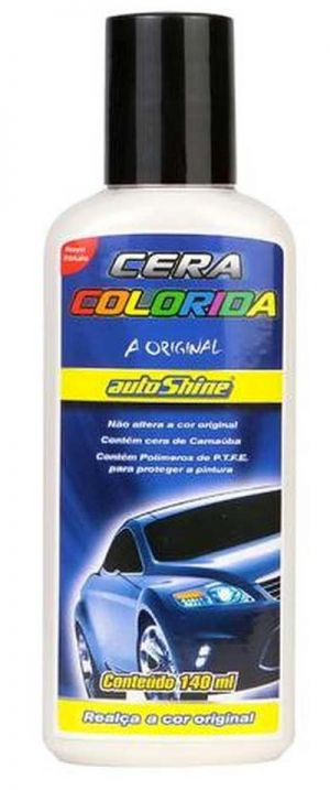 Cera Colorida Colorshine Branca Autoshine (140 ml)