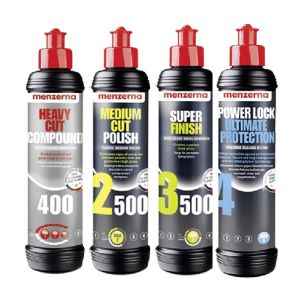 Kit de Polimento Menzerna (4 itens 250ml) (1 HC400, 1 MC2500, 1 SF3500 e 1 Power Lock)