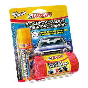 Kit Cristalizador de Vidros Spray Waterlux - Luxcar (70ml)