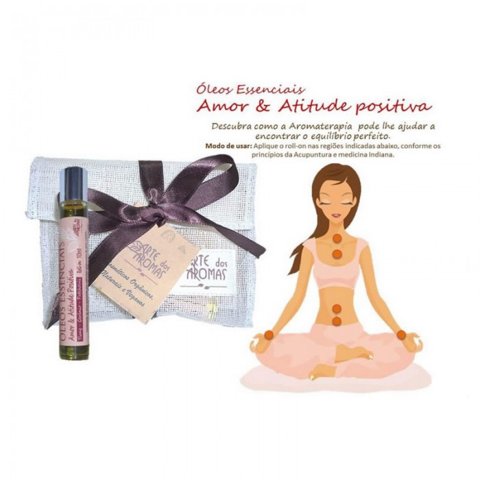 SN Roll-on Amor & Atitude Positiva  - Arte dos Aromas -10ml