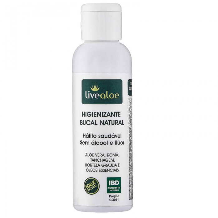 Higienizante Bucal Natural - Livealoe - 60ml