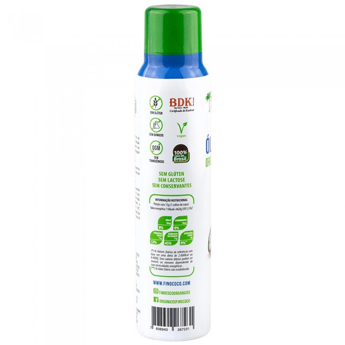 Óleo de Coco Orgânico Extra Virgem ''Body Care'' Spray - Finococo - 130ml  - foto principal 1