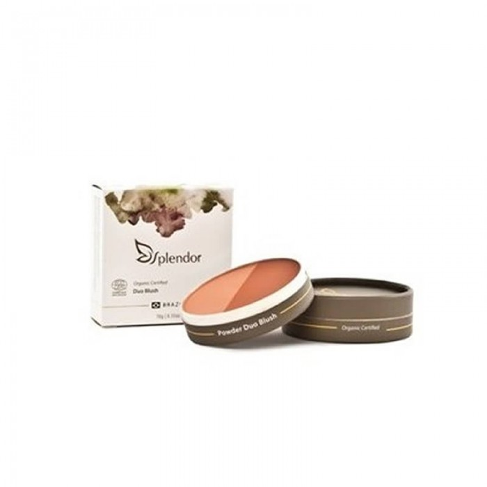 Duo de Blush Natural e Vegano Orange Spice - Splendor/Glory By Nature - 10gr