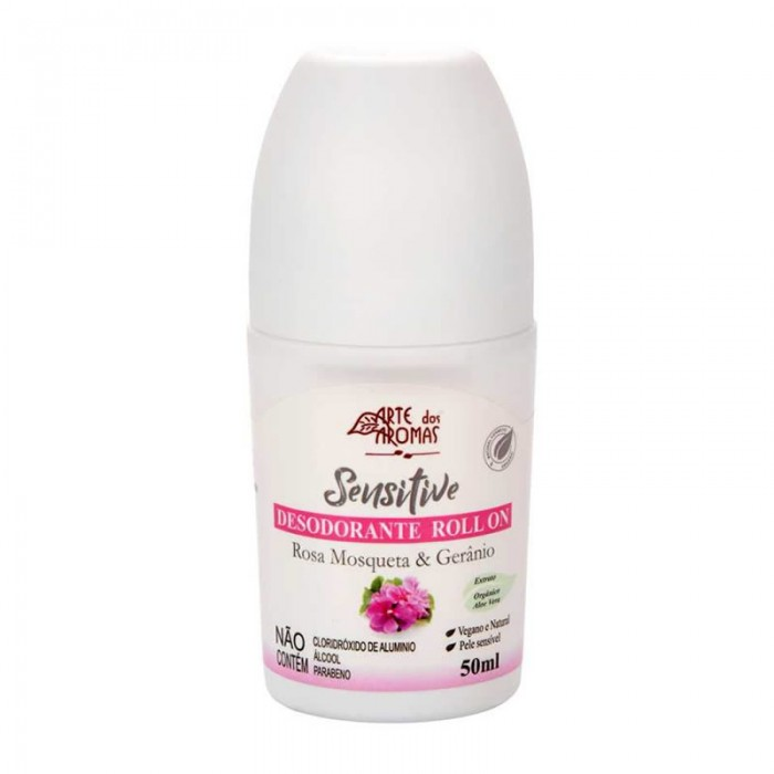 Desodorante Roll On Rosa Mosqueta - Arte dos Aromas 50ml