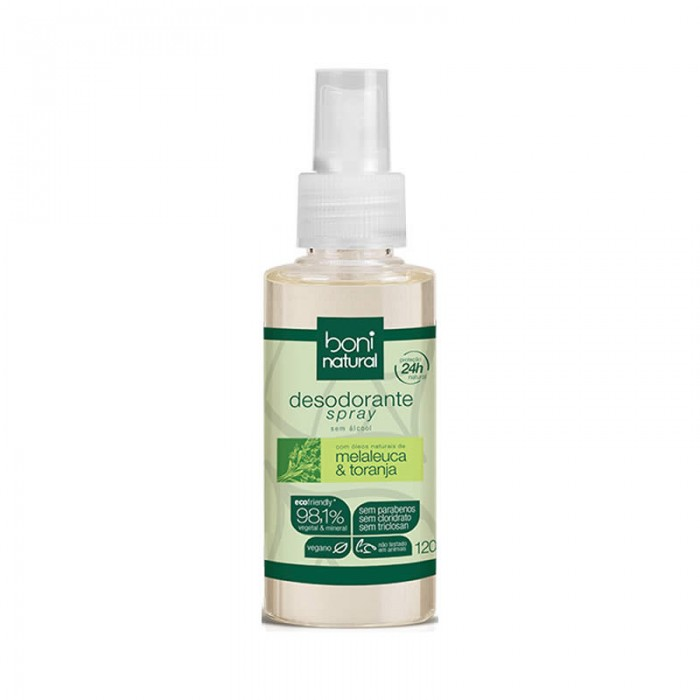 Desodorante Spray Melaleuca e Toranja - Boni Natural 120ml