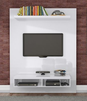 ESTANTE HOME THEATER 140CM BRANCO BRILHO TB100 - DALLA COSTA
