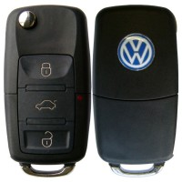 Chave Canivete Oca VW Golf,Fox,Gol,Voyage,Polo 3 Botoes