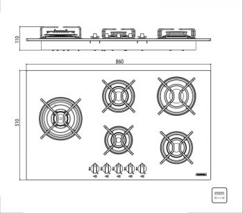 Cooktop 5 Queimadores Penta Side Plus W 5GG Tri 90 Tramontina 94709371  - foto 3