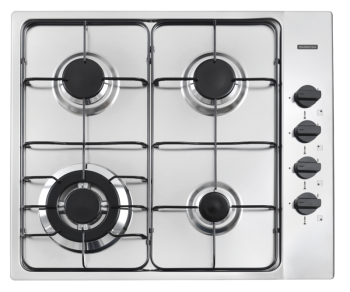 Cooktop Inox 4 Queimadores New Square 4GX Tri 60 Tramontina 94701211