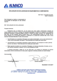 Carta de Exclusividade - Maligan - Almaco.