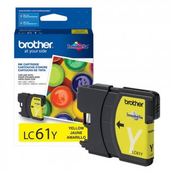 Cartucho Brother LC61Y Amarelo Original