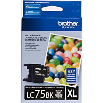 Cartucho Brother LC75BK-XL Preto Original