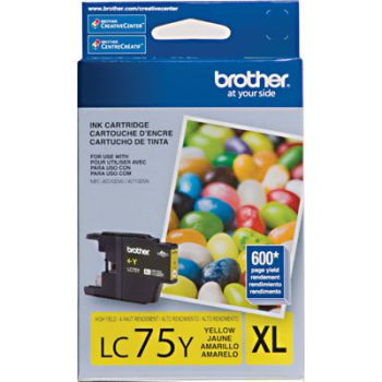 Cartucho Brother LC75Y-XL Amarelo Original