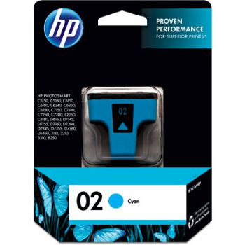 Cartucho Hp 02 Ciano C8771WL Original