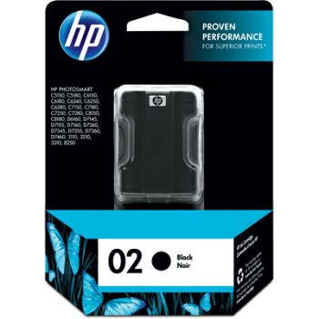 Cartucho Hp 02 Preto C8721WL Original