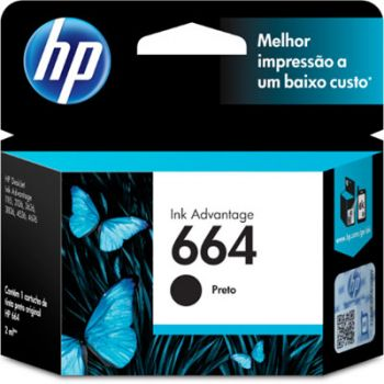 Cartucho Hp 664 Preto F6V289B Original