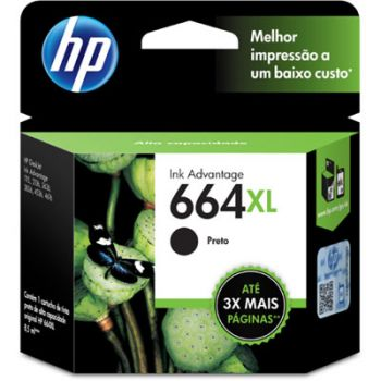Cartucho Hp 664XL Preto F6V31AB Original
