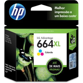 Cartucho Hp 664XL Color F6V30AB Original