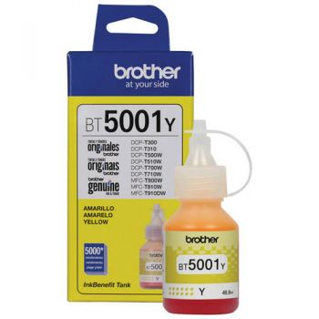 Refil de Tinta Brother 5001 Amarelo BT5001A Original