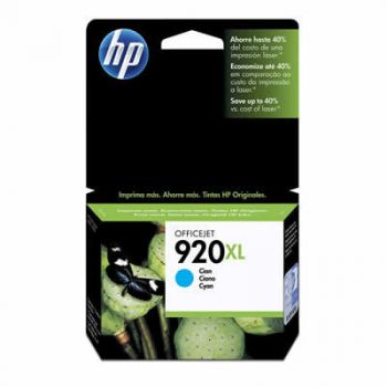 Cartucho Hp 920XL Ciano CD972AL Original