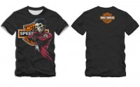 CAMISETA SPEED RACER CHOPPER HARLEY SKULL PRETA