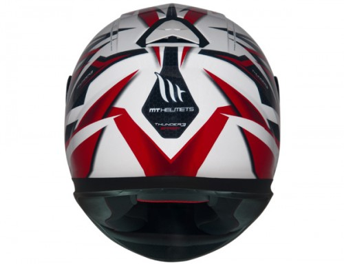CAPACETE MT THUNDER 3 EFFECT WHITE/RED  - foto principal 3