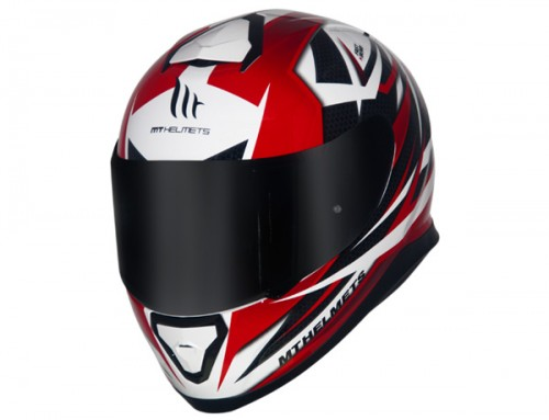 CAPACETE MT THUNDER 3 EFFECT WHITE/RED  - foto principal 2