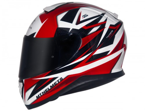 CAPACETE MT THUNDER 3 EFFECT WHITE/RED  - foto principal 1