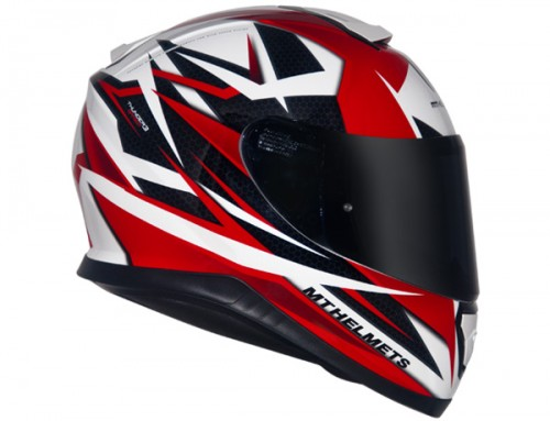 CAPACETE MT THUNDER 3 EFFECT WHITE/RED  - foto principal 4